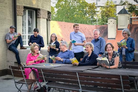 """Vorbereitung zur Ausstellung """"FAUST – Eine Nachlese."""" Foto: Simone Naumann"""